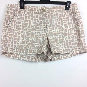 LOFT Ann Taylor shorts printed summer size 14
